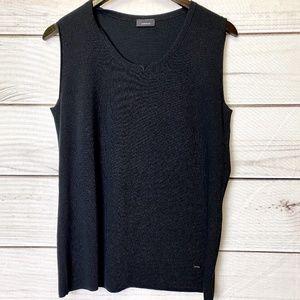 AKRIS Stretch Wool & Silk Blend Top-Size 12